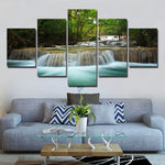 Wall Art 5 Piece waterfall beautiful scenery Painting print canvas wall Pictures for Living Room Home Decor