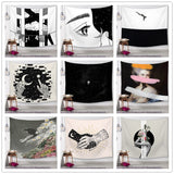 Black and White Series Printed Mandala Tapestry Wall Hanging Wall Decoration Hippie Tapestry Beach Throw Towel Yoga Mat