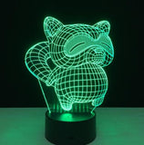 7 Colorful Cat 3D Lamp Acrylic LED Night Light USB Touch Sensor Light Children Cute Night Lamp Bedroom Light Kids Gifts