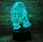 3D Lamp Death Star War R2D2 BB-8 Darth Vader  Knight LED Baby Lava Table NIGHT LIGHT Cartoon Toy Luminaria Kids Gift