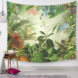 vintage tropical tapestry palmier tree wall hanging decor banana leaf leaves mural jungle rainforest tenture decorative cloth