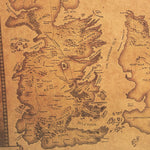 Game of Thrones Westeros Map Retro Kraft Paper Poster Interior Bar Cafe Decorative Painting Wall Sticker 42X36cm