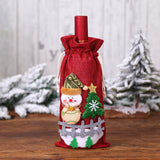 New Year 2020 Santa Claus Wine Bottle Dust Cover Xmas Navidad Noel Christmas Decorations for Home Natal 2019 Dinner Table Decor
