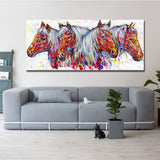 Home Paintings Animal Picture Wall Art Posters Horse Picture Canvas Painting For Living room Home Decor No Frame