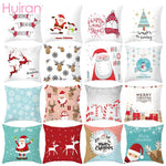 Huiran Merry Christmas Cushion Cover Decorations For Home Navidad 2019 Noel Xmas Ornaments Gifts Cristmas Happy New Year 2020