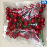 100pcs/set Artificial Red Holly Berry Christmas DIY Home Garden Decorations Christmas Supplies 1/1.5/2cm