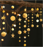 4M Twinkle Star Snowflake Paper Garlands Pendant Ornaments Christmas Decorations for Home New Year 2020 Noel Decor Navidad 2019