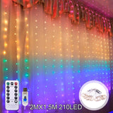 QIFU USB Curtain Light Merry Christmas Decor for Home 2019 Christmas Ornaments Christmas Tree Pendants Xmas Gifts New Year 2020