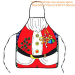 Christmas Decorations for Home 1Pcs Santa Claus Christmas Apron Xmas Decor Noel Navidad 2019 New Year Christmas Gift 50cm X 70cm