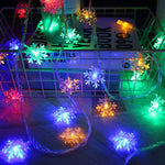 1/3M Christmas Gift String Fairy Lights Snowflake Led Garland for Merry Christmas New Year Gifts Christmas Decorations for Home