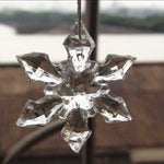 10/20Pcs Christmas Ornament White Snowflakes Acrylic Craft Christmas Snowflake Tree Window Christmas Decorations For Home