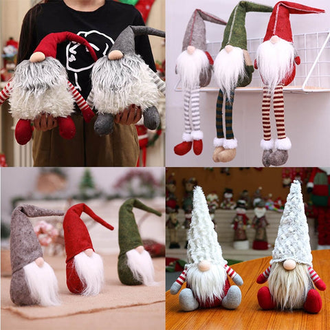 Santa Claus Snowman Elk Dolls Christmas Ornaments Merry Christmas Favor Party Decorations for Home New Year Gift