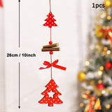 50pcs Wooden 2019 Christmas Decorations Tree Ornaments Santa Claus Snowman Deer Xmas Party Decoration for Home New Year Gift