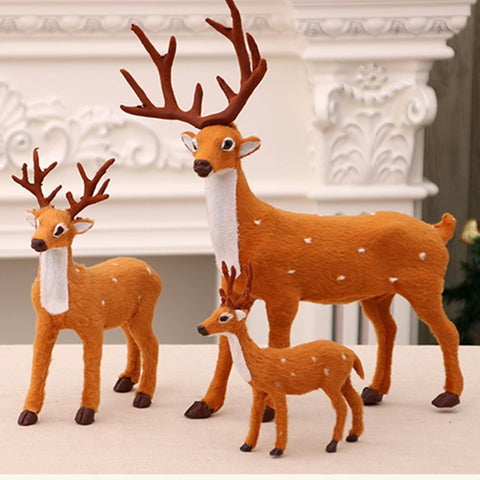 3 Size Plush Reindeer Furry Deer Home Decoration Gift for Girlfriend Happy New Year Christmas Decoration For Home Wedding Gift