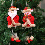 Cute Christmas Doll Long Leg Santa Clause Snowman Elk Ornament Christmas Tree Hang Pendant Kids Toy Christmas Decor for Home