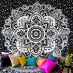 Bohemia Mandala Floral Wall Hanging Tapestry For Wall Decoration Fashion Tribe Style