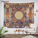 India Mandala Tapestry Hanging Wall Floral Tapestry Hippie