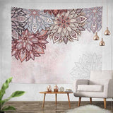 India Mandala Tapestry Gobelin Hanging Wall Floral Tapestry Fabric Polyester/Cotton Hippie Boho Bedspread Table Cloths
