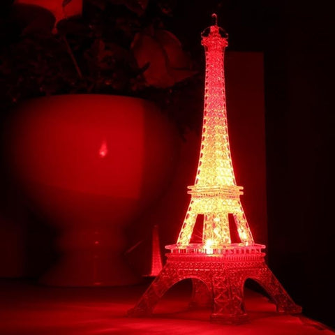 Colorful 3D lamp LED Night Light The Eiffel Tower 3D Illusion Night Lamp Table Desk Lamp Home Lighting