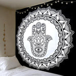 Mandala Polyester Square Tapestry Wall Hanging Carpet Throw Yoga Mat for Home Bedroom Decoration