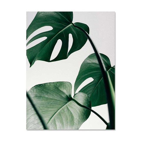 Nordic Canvas Painting Modern Prints Plant Leaf Art Posters Prints Green Art Wall Pictures Living Room Unframed Poster