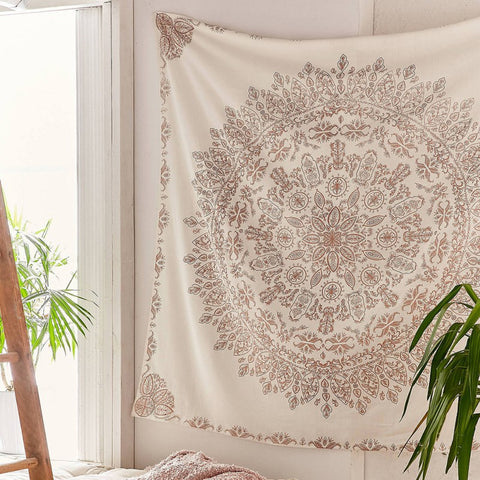 Indian Tapestry Mandala Hippie Bohemian Wall Hanging Flower Psychedelic Tapestry Wall Hanging Decor for Living Room Bedroom