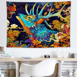 Japan Kanagawa Waves Printed Hanging Tapestry Whale Arowana Wall Hanging Tapestries Boho Bedspread Yoga Mat Blanket