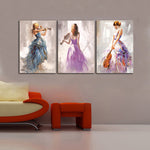 Abstract Portrait Posters and Prints Wall Art Canvas Painting the Violin Player Decorative Pictures for Living Room Decor