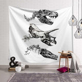 Bohemian Sailboat Whale Palm Tapestry Wall Hanging Dinosaur Bones Girl Pattern Art Sunbathing Beach Towel Blanket Home Decor