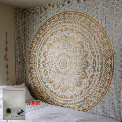Mandala Tapestry Wall Hanging Witchcraft Hippie Beach Throw Rug Moon Travel Boho Bohemian Home Art Psychedelic Tapestries Decor