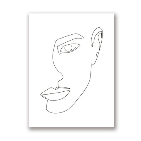 Abstract One-Line Feminine Figure Wall Art Canvas Posters Prints Minimalist Woman Fine Naked Painting Pictures Home Room Decor