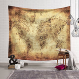 World Map Pattern Wall Tapestry  Wall Hanging Blanket Farmhouse DecorHome Decorations Machine A Imprimer Sur Tissu Shabby Chic