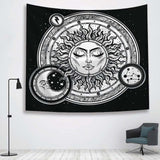 Sun Witchcraft Ouija Tapestry Wall Fabric Wall Hanging Tapestry Wall Blanket Farmhouse Home Decor