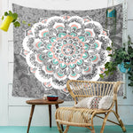 bohemian hippie indian mandala large printed tapestry wall hanging mint cloth tapestries for bedroom dorm decor