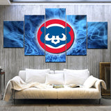 "5 piece HD Print Tagged ""Chicago Cubs""sport modern wall posters Canvas Art Painting For home living room decoration"