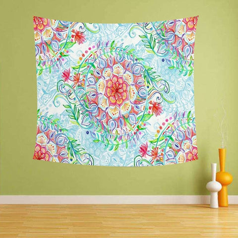 Beautiful Flowers wall hanging Tapestry Pattern Colorful Plant Sunflower Classic Family Living Room Decorative Blanket
