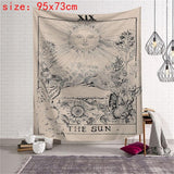Tarot Hanging Sun Star Moon Tapestry Hippie Wall Hanging Blanket Wall Carpet Yoga Mat Home Decor Tapestry