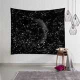 The Moon Tapestry Wall Hanging Galaxy Night Sky Psychedelic Wall Tapestry Mandala Wall