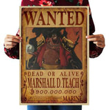 Home Decor Wall Stickers Vintage Paper One Piece Wanted posters Anime posters Luffy Chopper Wanted
