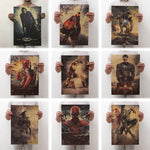 Movie Marvel Series Poster Avengers Infinity War Retro Poster Wall Stickers  For Living Room Home Decoration