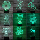 Kids 3d Lamp Football Led Night Light C Ronaldo Home Deocration Luminaria Child Boy Birthday Gift Messi Table Nightlight Soccer