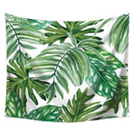 Tropical Plant Leaves Wall Cloth Tapestry Polyester Hanging Wall Carpet Decorative Tablecloth Home Decor