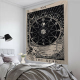 Tarot Card Tapestry Wall Hanging Astrology Divination Bedspread Beach Mat