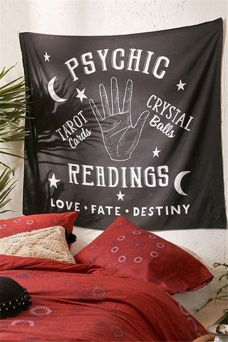 Tarot Mandala Tapestry Wall Hanging Hippie Psychedelic Tapestry Boho Decor Ouija Dorm Headboard Witchcraft Wall Cloth Tapestries