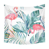 Boniu Flamingo Tapestry Wall Hanging Tapestry Tropical Plant Printed Psychedelic Hippie Tapestries Home Decor Shawl Blanket