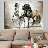 Retro Horse Abstract Oil Canvas Wall Art Painting Pictures Hanging Picture Art Painting Living Room Home Decor