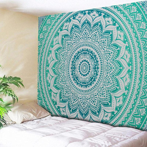 Large Mandala Indian Tapestry Wall Hanging Bohemian Beach Towel Polyester Thin Blanket Yoga Shawl Mat Blanket