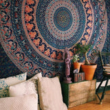 Indian Mandala Tapestry Wall Hanging Sandy Beach Throw Rug Blanket Camping Tent Travel Mattress Bohemian Sleeping Pad Tapestry