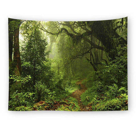 Forest Wall Tapestry Tree Landscape Mandala Tapestry Scenic Curtain Wall Hanging Tapestry Wall Art Decor Beach Mat Tablecloth