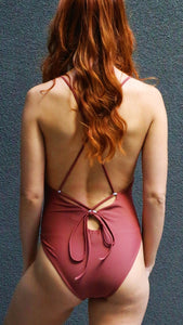 SAVANNA Spaghetti strap backless one-piece swimsuit-Chika Boom Boom